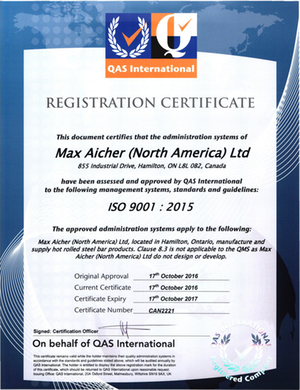 MANA ISO 9001 Certificate